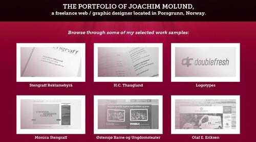 Portfolio of Joachim Molund