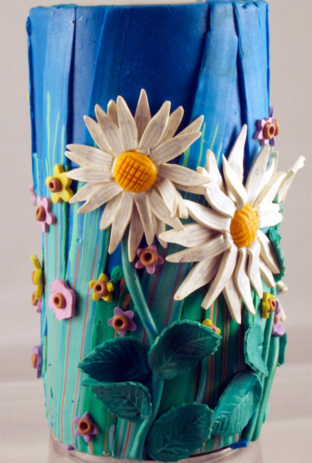 Daisy pencil holder