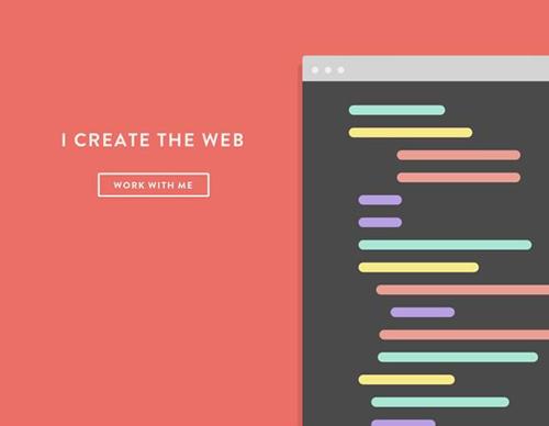 Flat web design-17