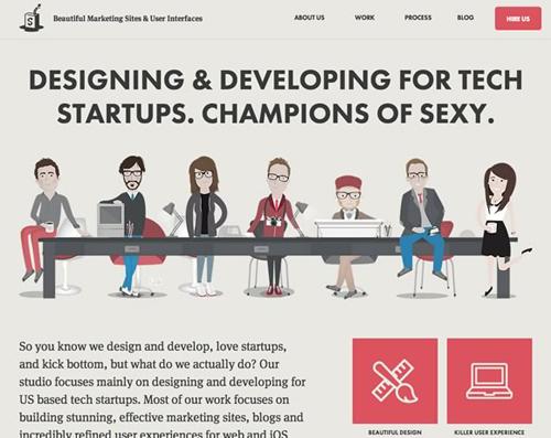 Flat web design-19