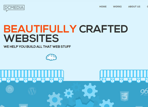 Flat web design-25