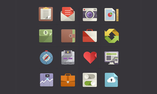 flat design icons set
