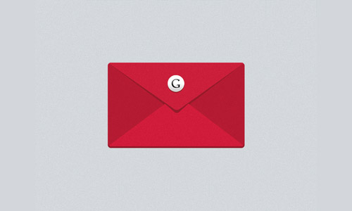 flat gmail icon