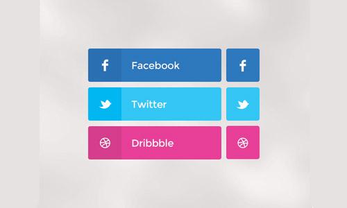 social buttons freebie