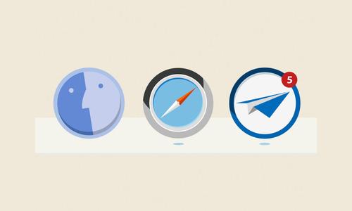 osx dock icons - flat