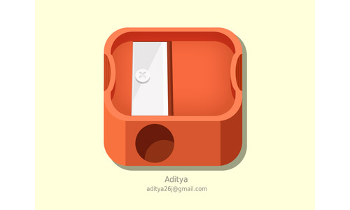 sharpener flat ios icon