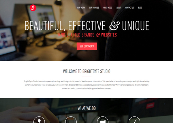 BrightByte Studio #flatdesign #website
