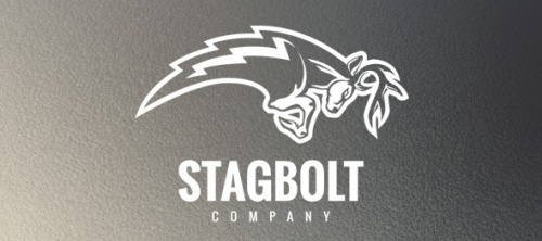 Stagbolt Logo Design