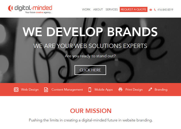 Digital Minded #flatdesign #website
