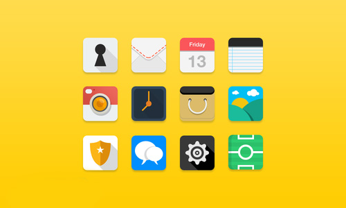 Flat Icons PSD