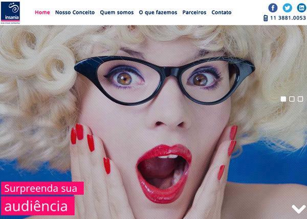 Insania Publicidade Interativa #flatdesign #website