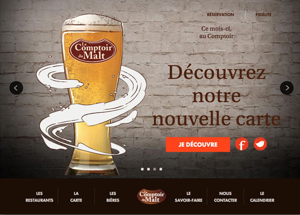 Le Comptoir du Malt #flatdesign #website