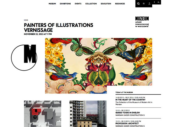 Museum of Modern Art in Warsaw #flatdesign #website