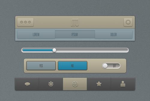Useful UI Design Free PSD Files