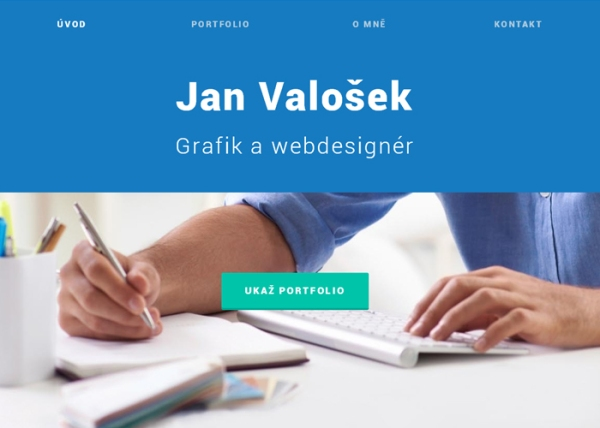 Valosek #flatdesign #website