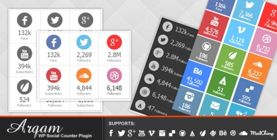 Responsive WP Social Counter Plugin
