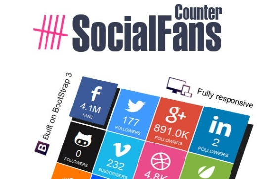 best social fans counter