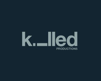 killed-productions-beautifully-blue-logo-designs