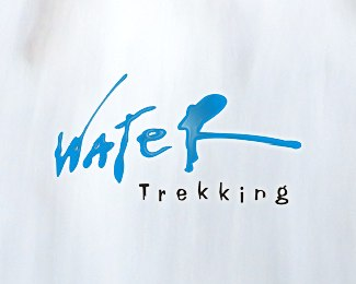 water-trekking-beautifully-blue-logo-designs