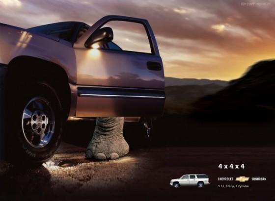 Elephant Driver o e1402145871152 Creative Car Advertising Ideas
