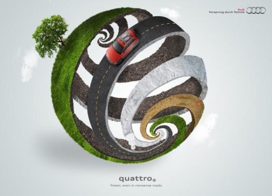 Even in Nonsense Roads 2 o e1402145271243 Creative Car Advertising Ideas