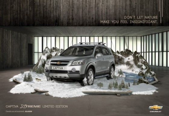 In Snow o e1402146943228 Creative Car Advertising Ideas