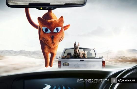 Keep A Safe Distance 3 o e1402145354591 Creative Car Advertising Ideas