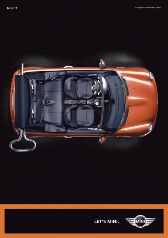 Let Us Mini o e1402145953407 Creative Car Advertising Ideas